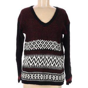 Anna Grace V-Neck Pullover Sweater Size Medium